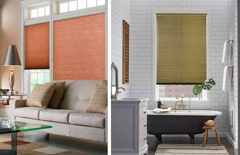 Have fun adding colourful blinds to your décor!