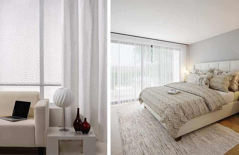 Today's trend is for solid and textured curtains!
