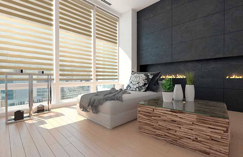 Dual shades allow light to enter in your room while keeping your privacy