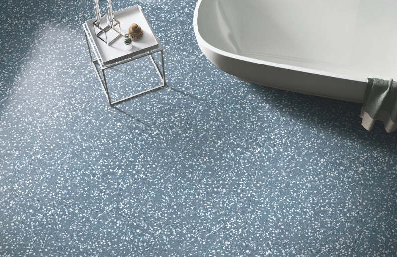 Ceramic tiles Terrazzo in the bathroom