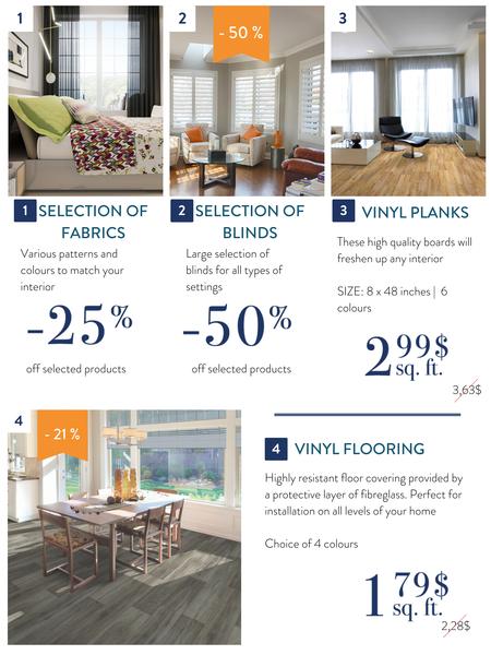 Vinyl planks, vinyl flooring and home decor