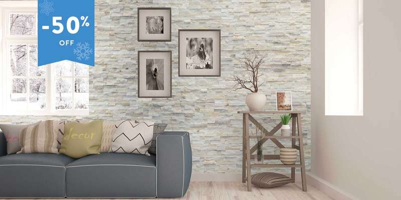 Artic natural stones wall covering