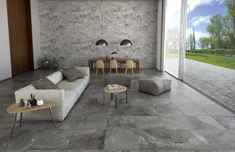 Glazed porcelain for indoor and outdoor use