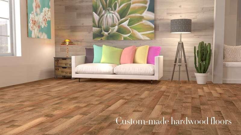 Custom made hardwood floor collect