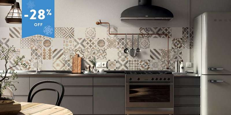 Caluso IV patterned wall porcelain tiles