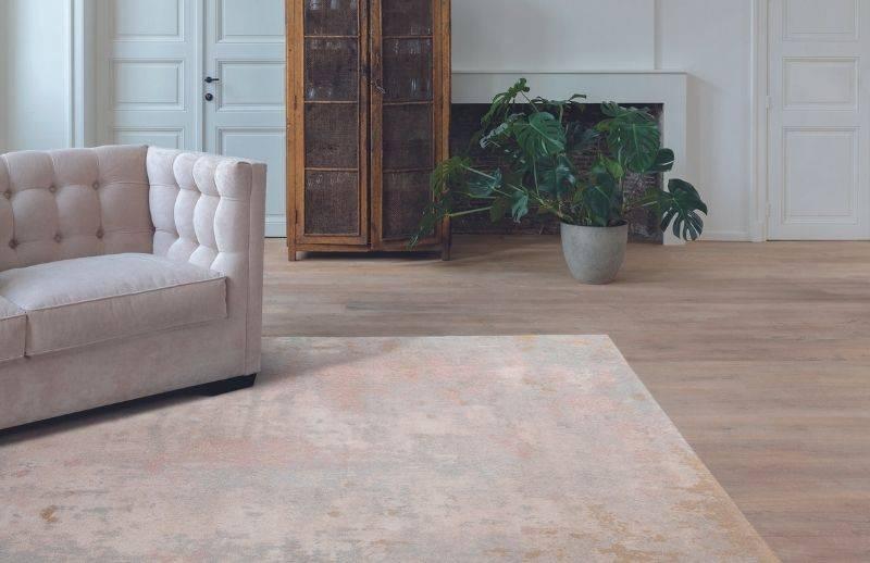Salon avec carpette de couleur beige