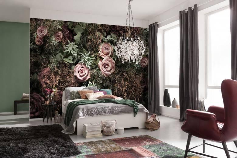 La murale de papier peint romantique et sophistiquée