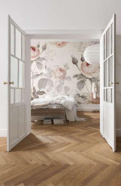 La murale de papier peint romantique classique