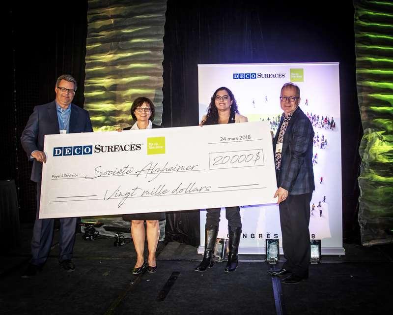 Un don de 20000$ à la Société Alzheimer