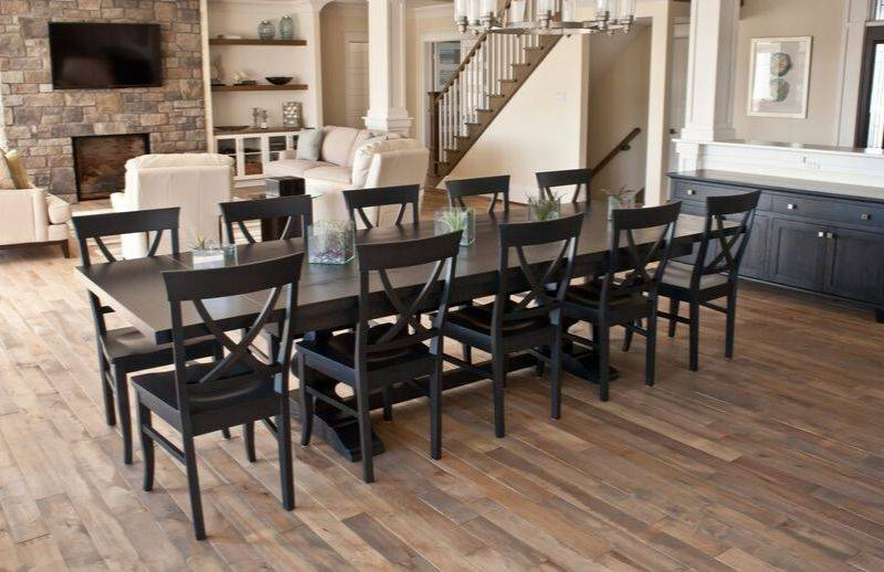 Oiled hardwood floors are a good choice because they are easy to repair.