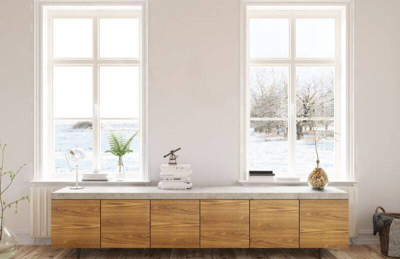 Well washed windows will easily allow sunlight in during the winter.
