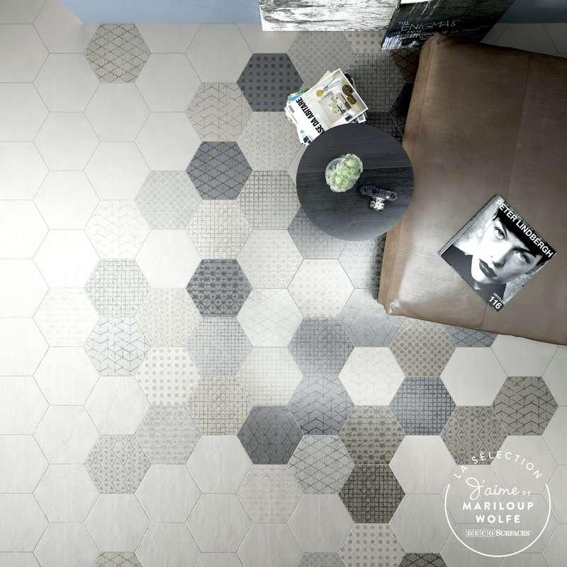 La céramique LeTerre hexagonale à motifs modernes et délicats