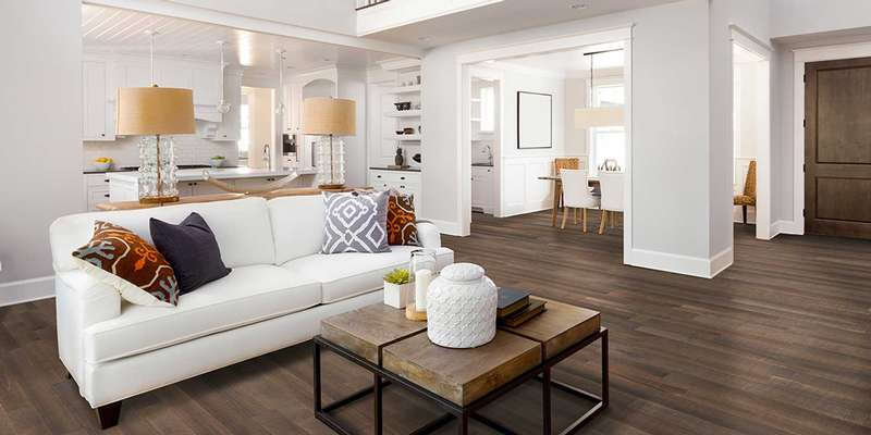 Birch hardwood floor