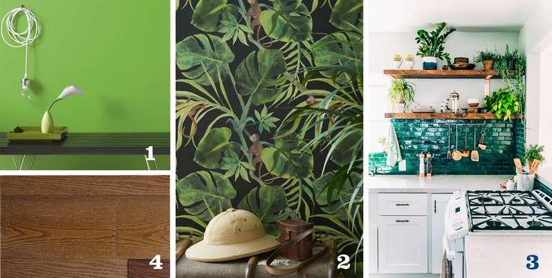 Tendances 1 et 2 : le vert et les plantes
