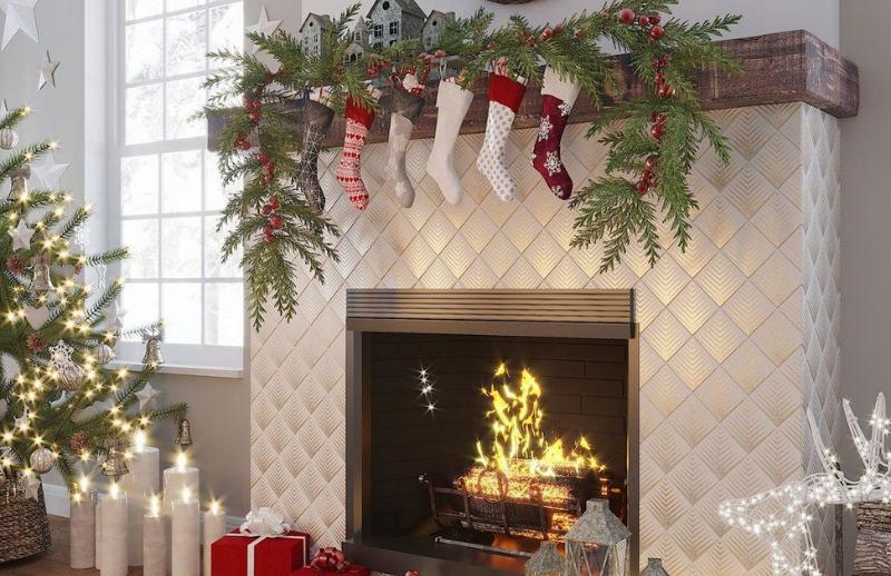 Céramique texturée pour cheminée