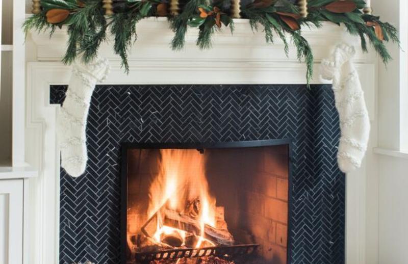 Céramique noir pour cheminée