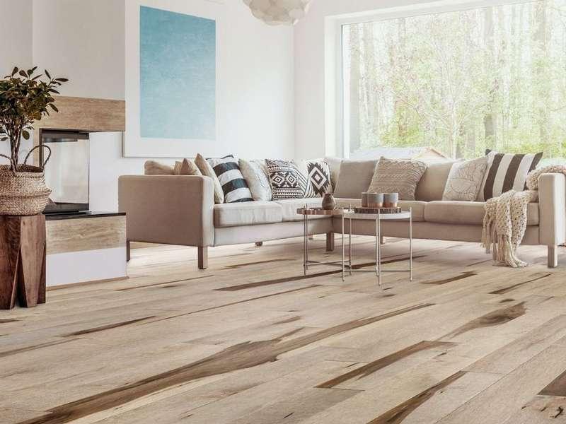 Plancher de bois à l'érable