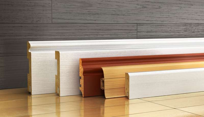 Various materials for moldings