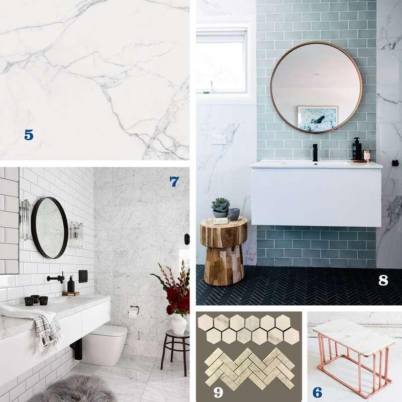 Tendances 3 et 4 : le marbre et les tuiles de métro